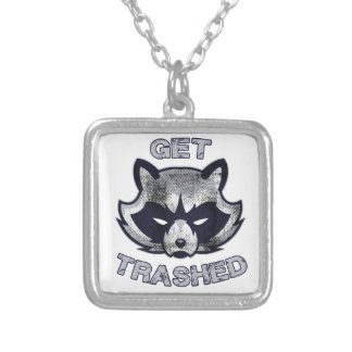Trash Panda Party People Silver Plated Necklace