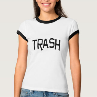 Trash print black T-Shirt