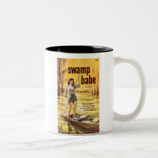 TRASH-Swamp-Babe Two-Tone Coffee Mug