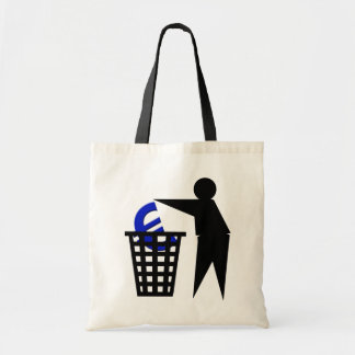 Trash the Euro Budget Tote Bag