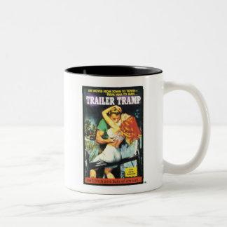 TRASH-Trailer-Tramp Two-Tone Coffee Mug