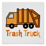 Trash Truck Posters