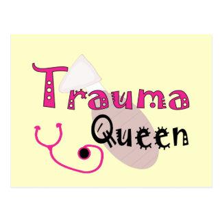 "Trauma Nurse  ""Trauma Queen"" Gifts Postcard"
