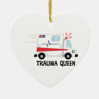 Trauma Queen Ceramic Ornament