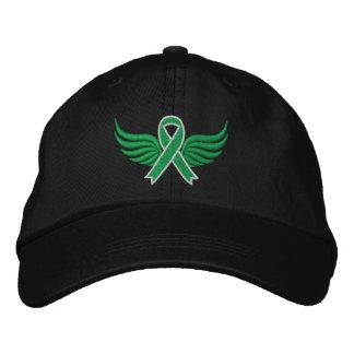 Traumatic Brain Injury Ribbon Wings Embroidered Hats