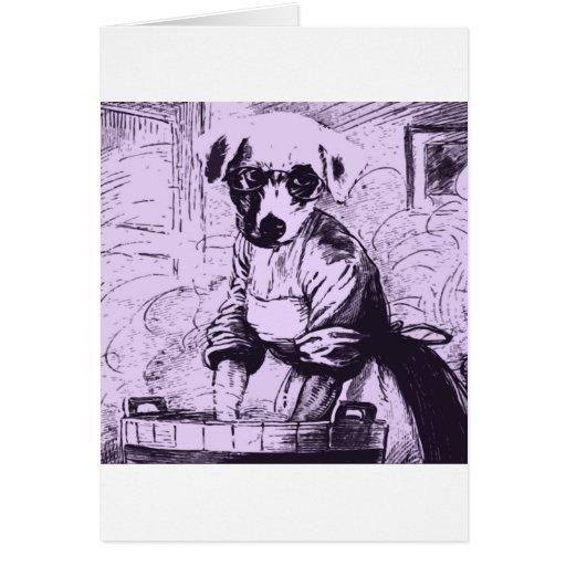 Travail comme un chien carte de vœux