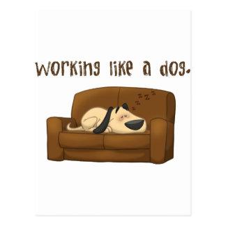 Travail comme un chien cartes postales
