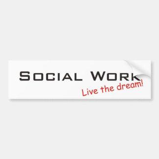 Travail rêveur/social autocollant de voiture