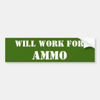 Travaillera pour des munitions adhésif pour voiture