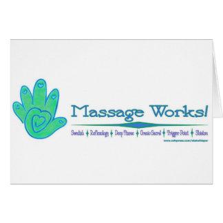 Travaux de massage ! carte de vœux
