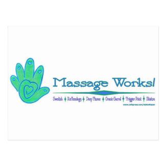 Travaux de massage ! cartes postales
