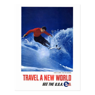 Travel a New World - See the U.S.A. Postcard