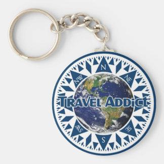 Travel Addict Keychain