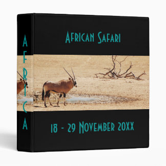 Travel Africa wildlife safari binders