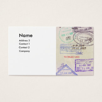 travel agencies business card