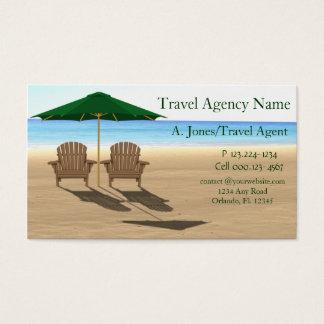 Travel Agency Beach Business Card