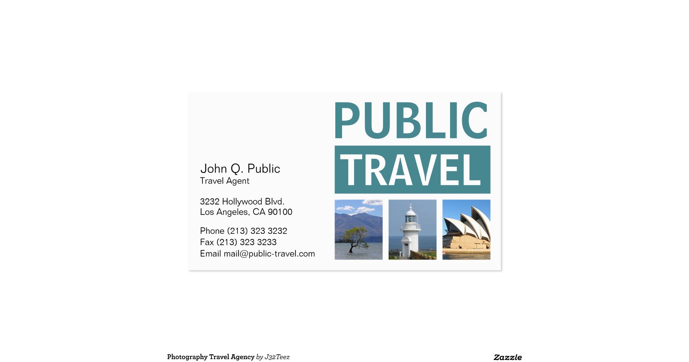 travel agency business card zazzle