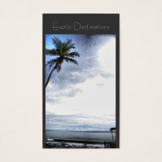 Travel agency business card exotic tropical