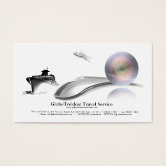 Travel Agency Frieght Service Business Card
