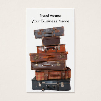 Travel Agency Luggage Fly Vacation Holiday Business Card
