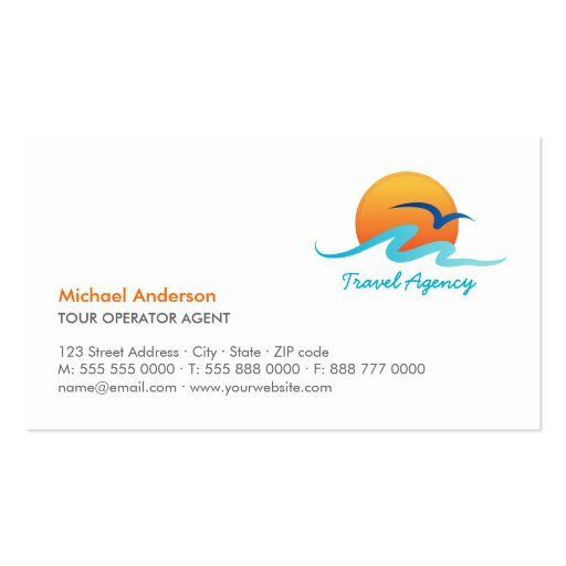 Travel agency tourism tour operator business card zazzle for Travel agency business cards