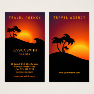 Travel Agency Tropical Island business card