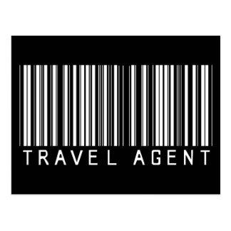 Travel Agent Bar Code Post Card