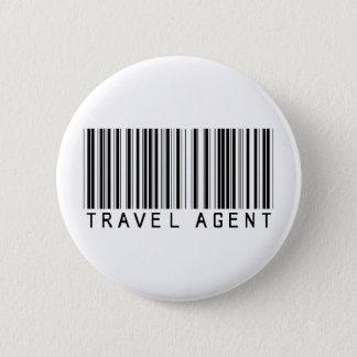 Travel Agent Barcode 2 Inch Round Button