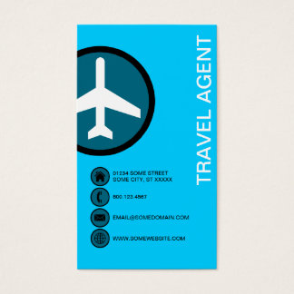 TRAVEL AGENT bubbles Business Card