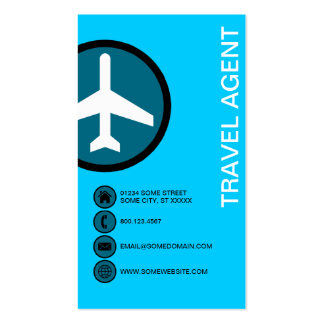 TRAVEL AGENT bubbles Business Cards