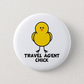 Travel Agent Chick 2 Inch Round Button