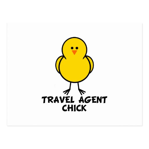 Travel Agent Chick Post Card