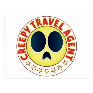 Travel Agent Creepy Postcard