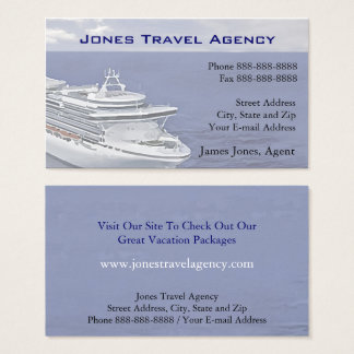 Travel Agent Cruise Ship Agency Business Card