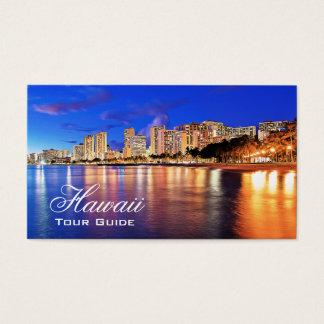 Travel Agent - Hawaii Waikiki Beach Palm Tree Business Card