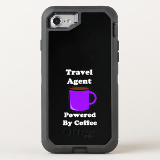 """""""Travel Agent"""" Powered by Coffee OtterBox Defender iPhone 7 Case"""