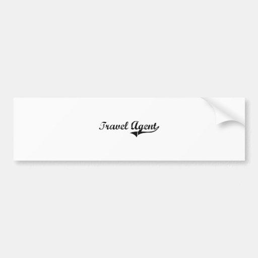 Travel Agent Professional Job Bumper Sticker