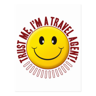 Travel Agent Trust Smiley Postcard