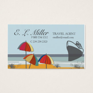 Travel Agent Vacation Summer Beach Business Card