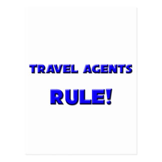 Travel Agents Rule Post Card