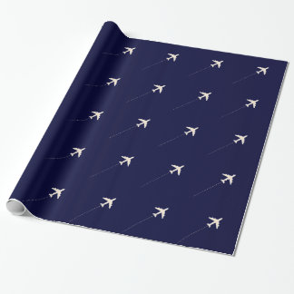 travel airplane  with dotted line