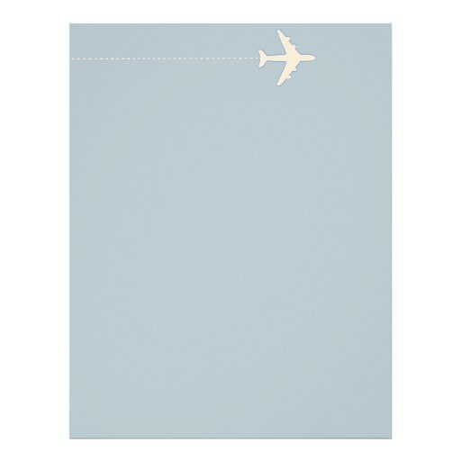 travel airplane with dotted line letterhead template