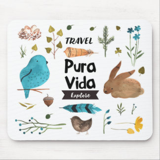 Travel and explore watercolour mouse pad