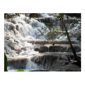 Travel Art Dunns River Falls Jamaica Postcard
