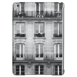 Travel | Black and White Vintage Building In Paris Cover For iPad Air