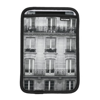 Travel | Black and White Vintage Building In Paris iPad Mini Sleeves