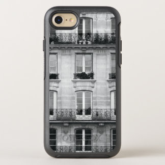 Travel | Black and White Vintage Building In Paris OtterBox Symmetry iPhone 8/7 Case