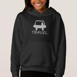 TRAVEL BLACK PULLOVER HOODIE