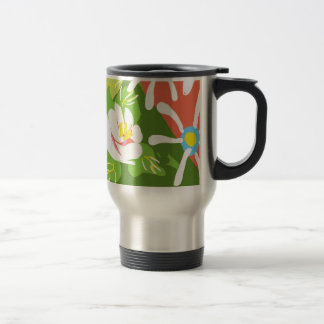 Travel / boating mug with canal roses design