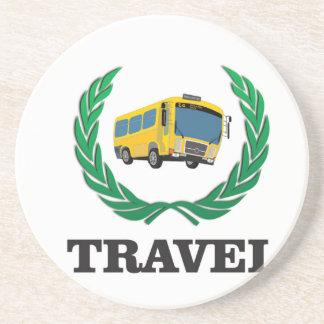 travel bus beverage coasters